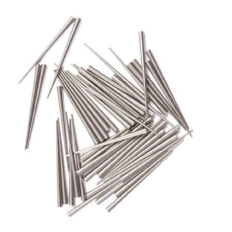Gauged Steel Tapered Clock Pins  Size 4 - 0.65 x 1.10 x 14.0mm 100pcs